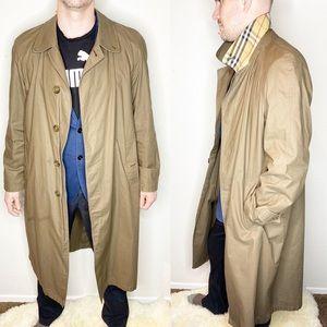 Vintage Burberry Men's Trench Coat Jacket Nova